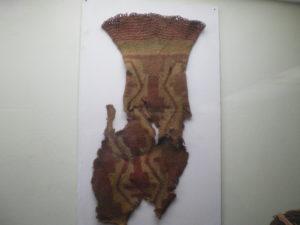 Textiles précolombien exposés au Musée d'Iquique, Nord du Chili
