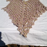 Tunique, laine mouton, naturelle, filée industrielle, crochet
