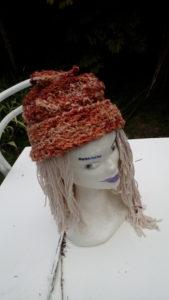 Bonnet, laine changeante, mouton, filé main, teinture naturelle