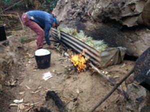 Mise à feu de la super casserole