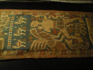 Ikat ancien, représentant un rêve. selon la tradition, exposé au Muséede Kuching