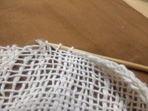 Détail de la finition au crochet