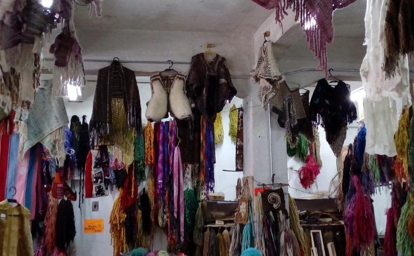 tricots, teinture naturelle, Rincón de Angel, Puerto Mont, Chili