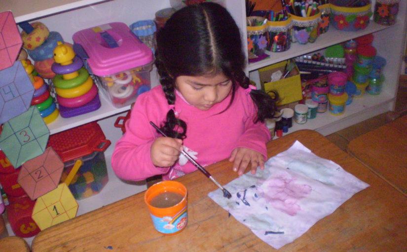 Les enfants peuvent teindre