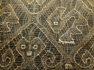 Détail de gaze Chancay (entre 800 et 1300 après JC) des tiroirs du Musée Amano - Miraflores - Lima - Pérou