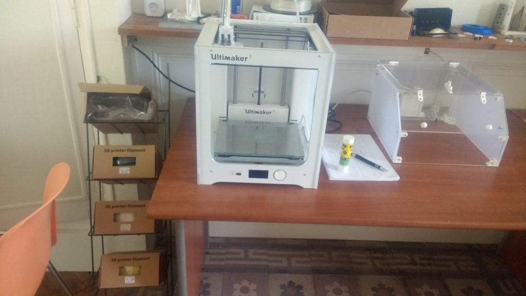FabLab de Loches, France, imprimante 3D